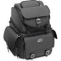 Saddlemen Back Seat Rest Sissy Bar Bag Motorcycle  Luggage Fits Harley & Metric