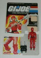 1987 GI Joe Red Ninja Intelligence Jinx v1 Figure w/ File Card Back *READ*