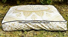 Indian Square Floor Pillows Ombre Mandala Throw Meditation Cushion Cover Ottoman