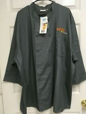 Snap Kitchen Men Gray Employee Morocco Chef Coat 3Xl Chef Works New Tag