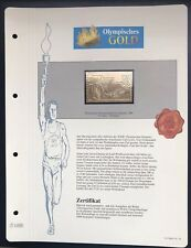 Olympics Los Angeles 1984 USA Gold stamps 99,8% Goldauflage* Only 4.999 MNH 2/9