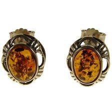 Orecchini donna in ambra naturale baltica e argento 925