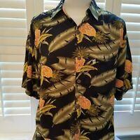 Pineapple Moon Hawaii Camp Shirt Mens Tropical Cruise Aloha Size M