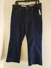 Pilcro and the Letterpress Anthro Size 32 Denim Blue Jeans Cropped Straight Leg