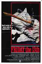 Friday 13th 1 Poster 02 A2 Box Canvas Print