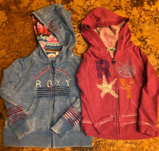 ROXY Girl Teenie Wahine Zippered Hoodie Sweatshirts Blue and Berry Size 3