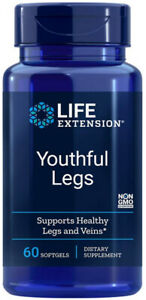 YOUTHFUL LEGS HEALTHY LEGS  VEINS CIRCULATION 500mg 60 Capsule LIFE EXTENSION