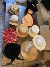 Lot Of 10 Vintage Woman's Designer Hats. Christian Dior. Etc. Lot 4