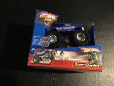 Hot Wheels Monster Jam Super Speeders Blue Thunder Signed By Driver