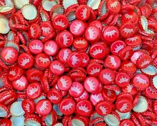 100 (Red Budweiser Crown) Beer Bottle Caps Fast Shipping Great Value