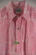 VTG HRH His Royal Highness Reverse Pink Hawaiian Shirt- 3 Button Pull Over- Med