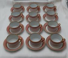 New ListingFitz & Floyd Renaissance Set of 12 Cups & Saucers-Peach