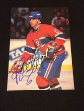 Russ Courtnall Signed Montreal Canadiens Magazine Photo - PSA Guarantee