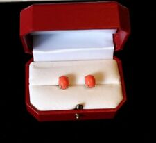 Coral Earrings, rare. 14KT gold