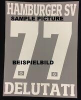 HSV Hamburger SV WUNSCH-Flock 25 cm fürs adidas Away Trikot 2016-2017