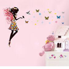 Butterfly Girls Wall Sticker Mural Art 3D Decal Wallpaper Decor Baby Bedroom