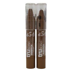 Covergirl TruBlend Fixstick Concealer Shade D5-6-7 Deep 0.12oz Lot Of 2 New
