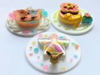Pokemon Center Original Mini Figure 3-piece set Dessert Plate From JAPAN F/S