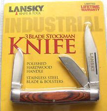 Lansky 3 Blade Stockman Taschenmesser mit 3 Klingen Pocket Knife