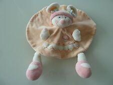G6- DOUDOU PLAT ROND SOURIS KIABI orange blanc rose champignon - TBE