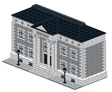LEGO INSTRUCTIONS for set of 6 custom designed buildings.
