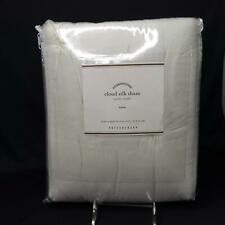 Pottery Barn Pillow Sham Foundations Cotton Silk White Square 26 x 26 Euro New