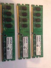 Crucial 6gb (3x2gb) Módulo RAM GB, DDR2 De Ram