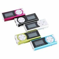 USB Mini Clip MP3 Player LCD Screen Support 32GB Micro SD TF Card With LED Light