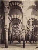 Cordova Cordoba Spagna Grande Foto E.Beauchy Foto Vintage Albumina c1880