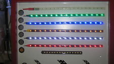 2 bendy 30cm Red White or Blue LED Strips with Super Sharp Colours easy fit DIY