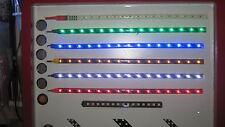 """2 SGAMBATA 12"""" 30cm Rosso Bianco & Blu LED AMI strisce con Super Sharp COLORI FAI DA TE"""