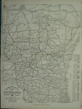 1922 LARGE AMERICA MAP ~ WISCONSIN AUTO TRAILS ROADS TRUCK LINES RAND MCNALLY