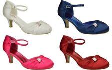 Satin Court Standard Width (B) Heels for Women