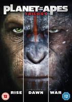 Planet of the Apes Trilogy DVD (2017) James Franco, Wyatt (DIR) cert 12 3 discs