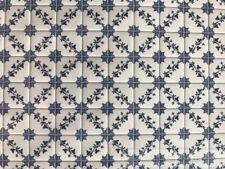 Laminated Tile Sheet Flooring Blue & White, Dolls House Miniature, DIY