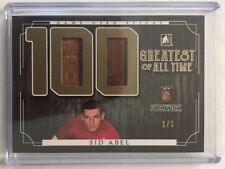 2017 Stickwork Sid Abel Stick 1/1 100 Greatest Of All The Time Game Used Leaf SP