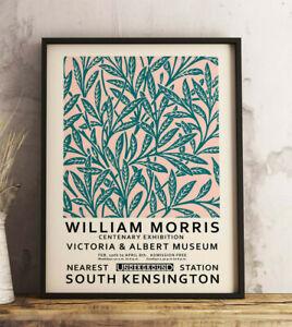 William Morris Exhibition Poster, Morris Art, Vintage Gift, Wall Art Decor Print