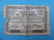 2 Gulden Banknote 1811 Einlösungs- u TilgungungsDeputation Österr. Ungarn Böhmen