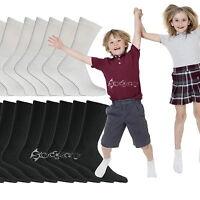 6 or 12Pairs Kids Cotton Rich School Sport Socks Boys Girls Back to School
