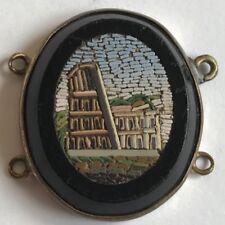 Antico 19th secolo MICRO MOSAICO PANNELLO rovinare COLOSSEO 25mm x 21mm #
