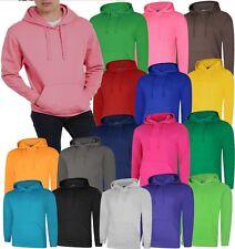Mens Plain Deluxe Hoodie Size XS to 5XL Plus Hooded Sweatshirt UK STOCK