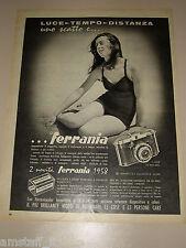 *28=FERRANIA FOTOGRAFIA=1958=PUBBLICITA'=ADVERTISING=PUBLICIDAD=WERBUNG=