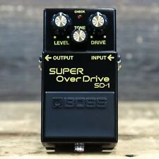 Boss SD-1 SUPER OverDrive 40th Anniversary Edition Black Overdrive Effect Pedal