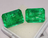 Natural Emerald Loose Gemstone 9 to 11 cts 2 Certified Pair Best Offer