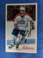 NHL MONTREAL CANADIENS Gilbert Delorme AUTOGRAPHED POSTCARD