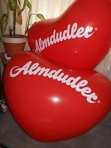 1 Stück Riesen ALMDUDLER HERZ Wasserball inflatable Giant Heart Beach Ball 100cm