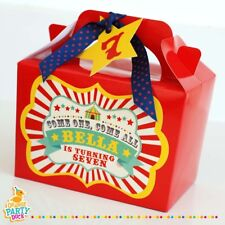 Personalised Circus Showtime Showman Carnival Birthday Party Gift Lunch Box