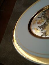 Unmarked 'CHOKIN' Style Decorative Plate, Intricate Detail 24k Guilded Gold Trim