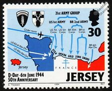 WWII D-DAY Landings (6th June 1944) Operation Overlord Map Stamp