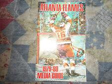 1979-80 ATLANTA FLAMES MEDIA GUIDE Yearbook LAST YEAR IN ATL 1980 NHLCalgary AD
